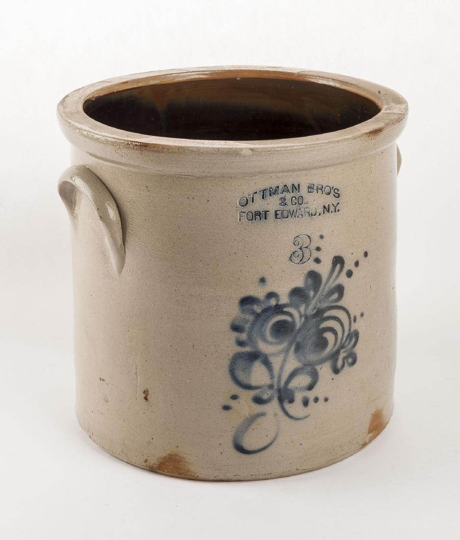 Ottman Bro's & Co. 3 Gallon Stoneware Crock