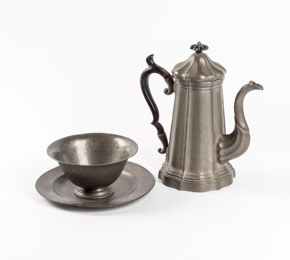 3 Pcs Pewter Incl Coffee Pot