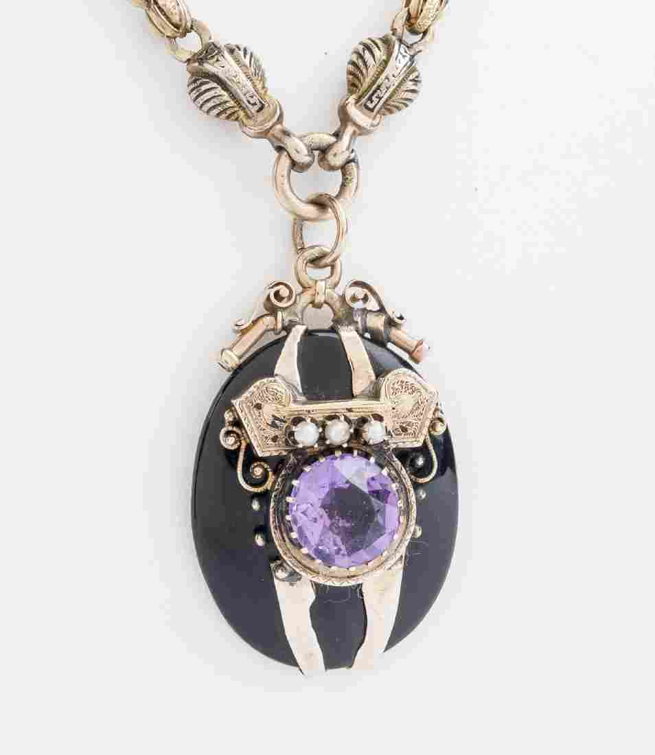 Victorian Gold and Amethyst Pendant Necklace