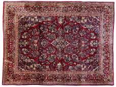 Semi-Antique Persian Sarouk Room Size Rug