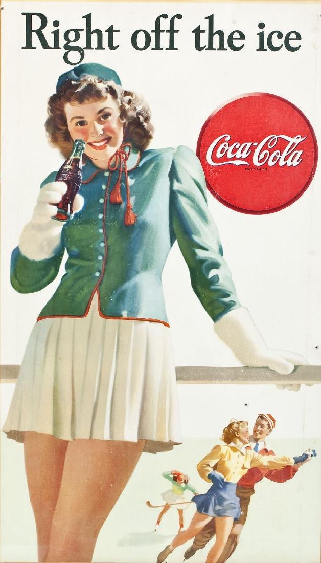 1946 Coca-Cola Poster Right Off The Ice