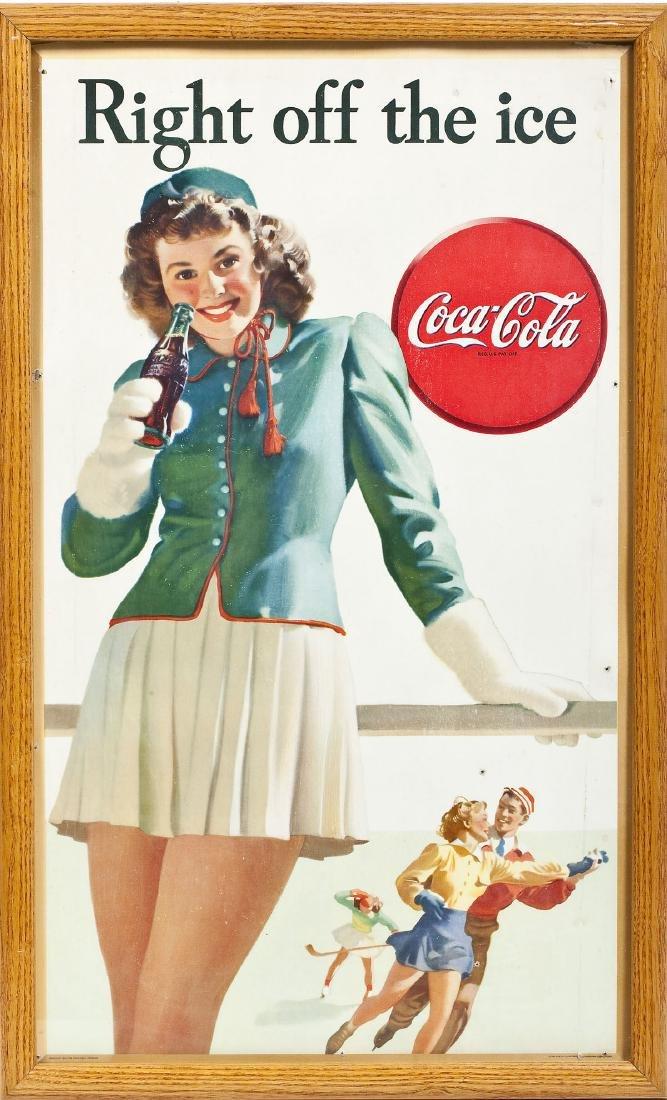 1946 Coca-Cola Poster Right Off The Ice - 5
