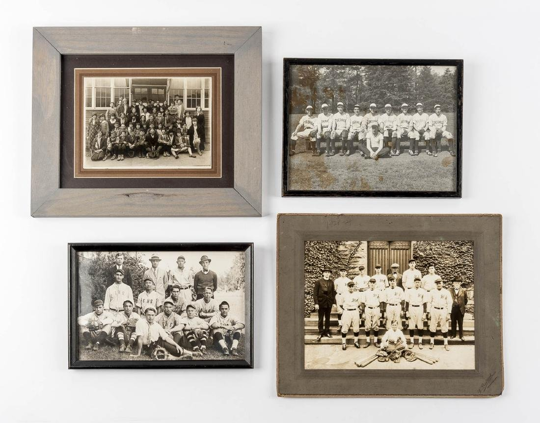 4 Circa 1920s Baseball Photographs incl. George