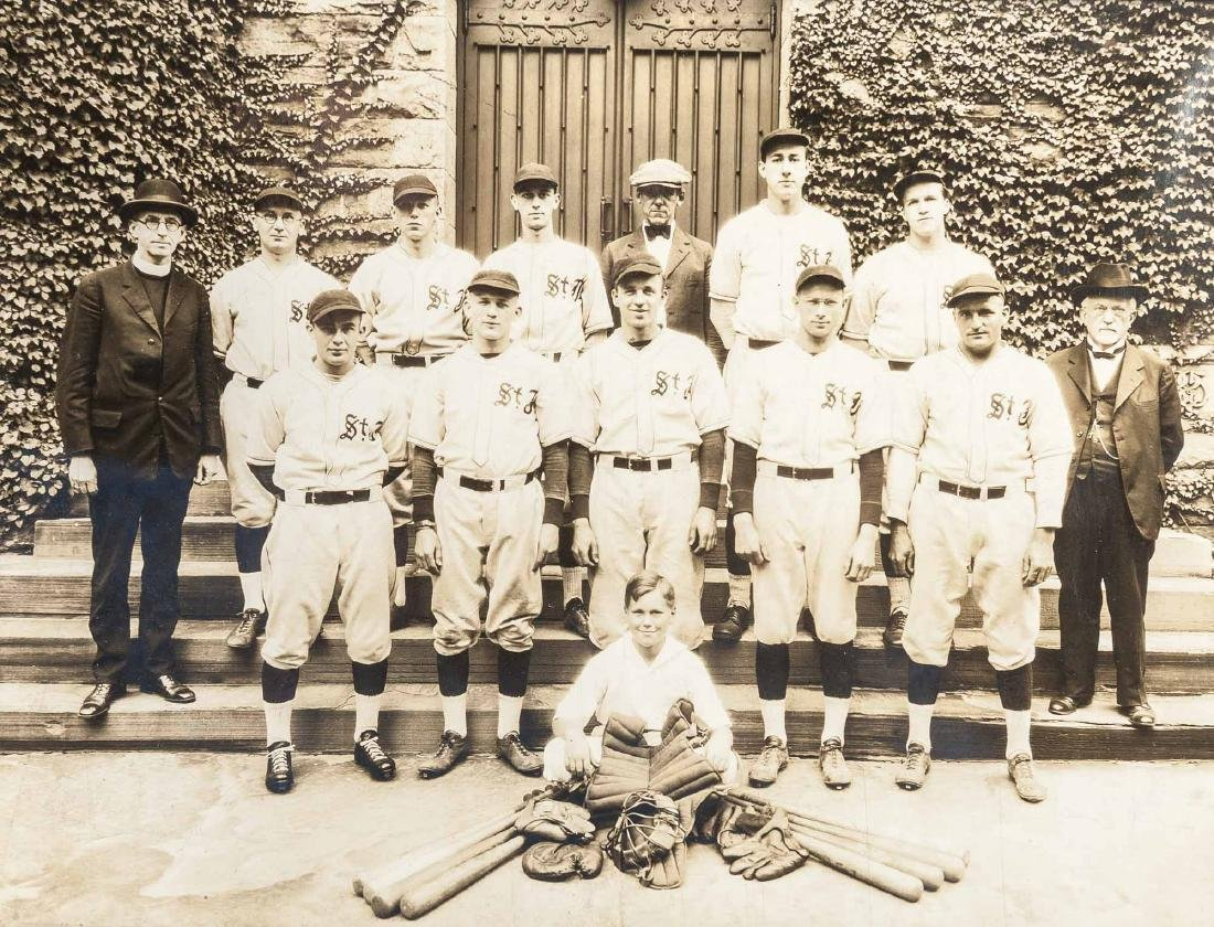 4 Circa 1920s Baseball Photographs incl. George - 3