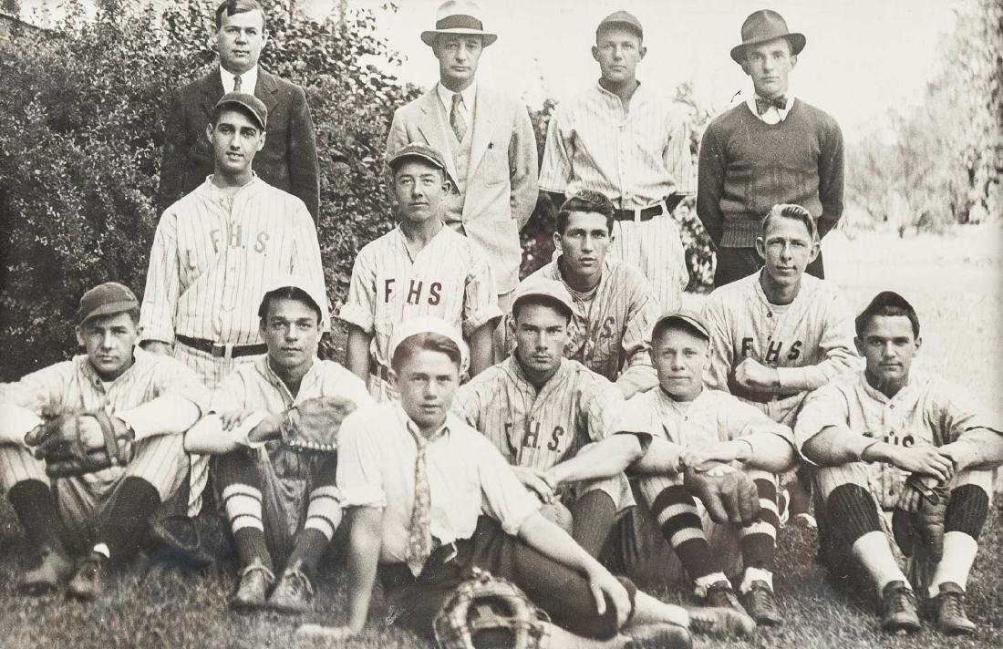4 Circa 1920s Baseball Photographs incl. George - 4