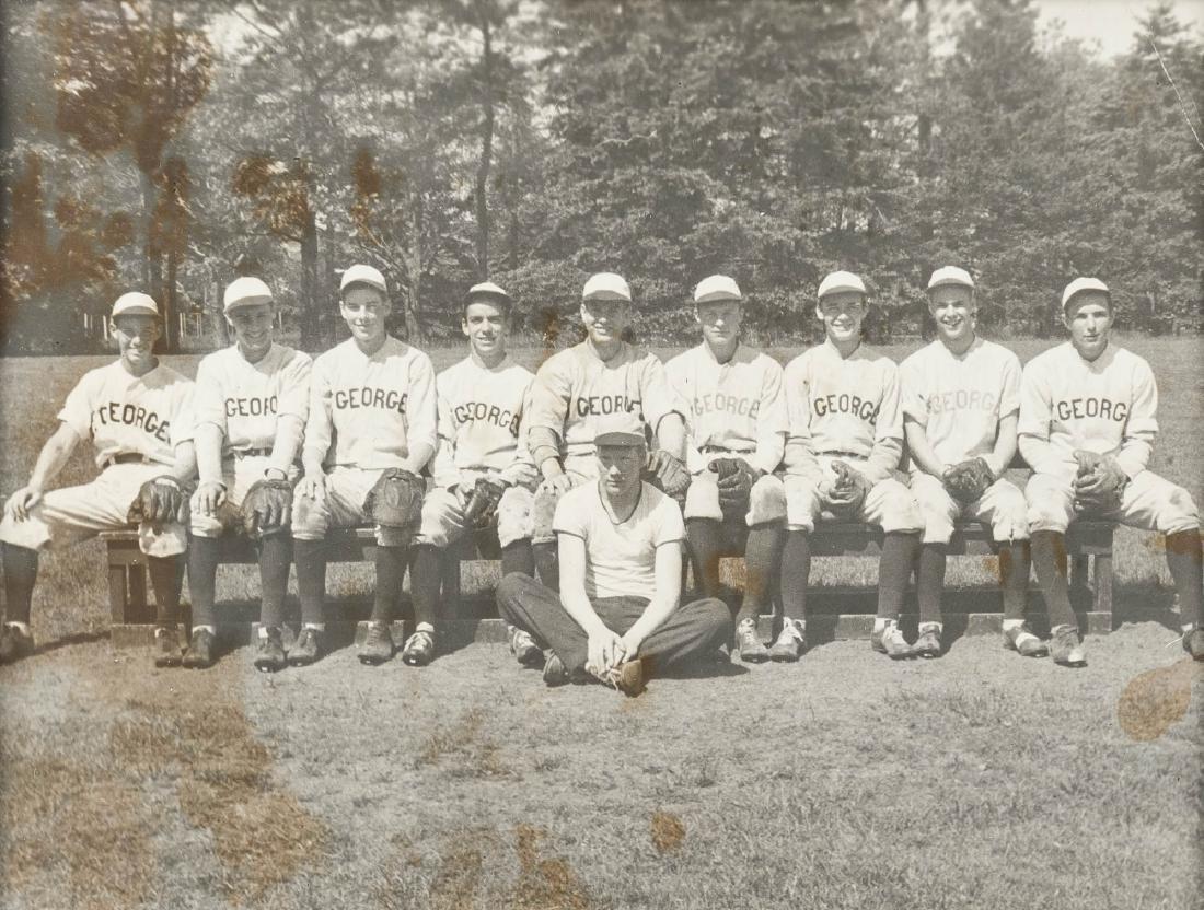 4 Circa 1920s Baseball Photographs incl. George - 5