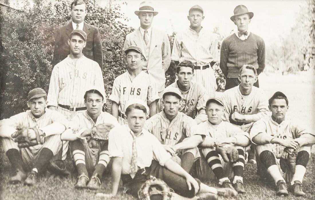 4 Circa 1920s Baseball Photographs incl. George - 6