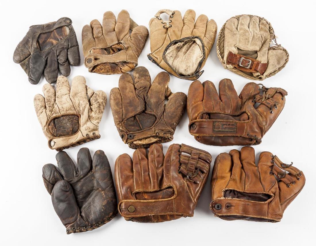 10 Vintage Baseball Gloves - 2