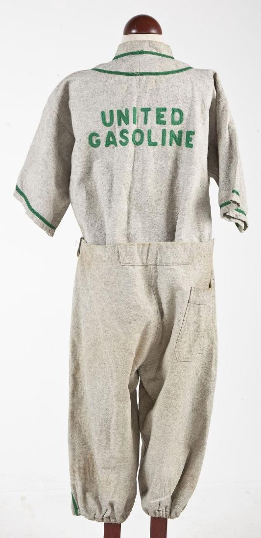 Vintage United Gasoline Wool Baseball Uniform - 2