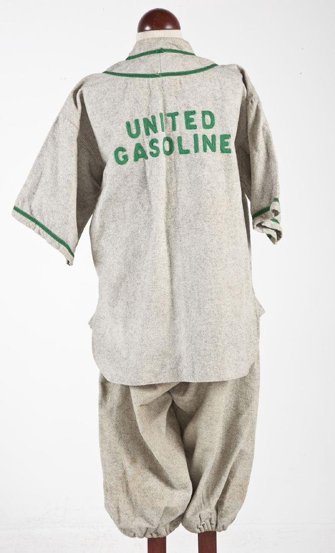 Vintage United Gasoline Wool Baseball Uniform - 8