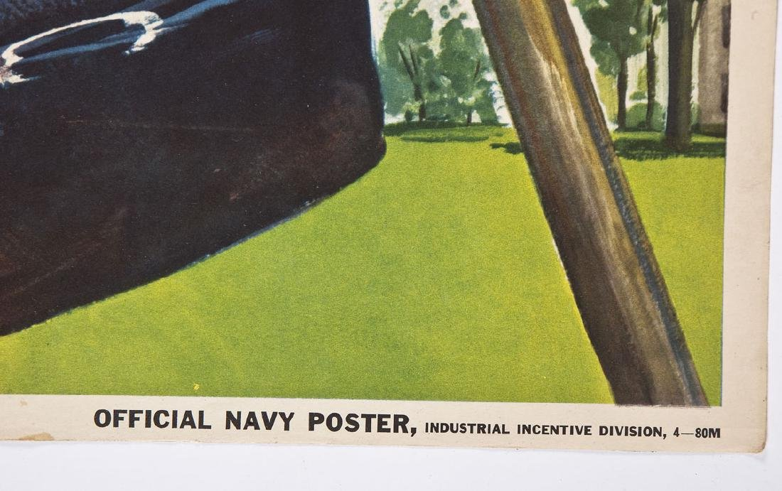 4 Official Navy World War II Posters - 10