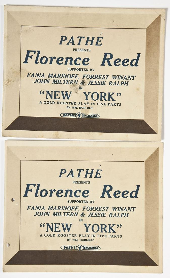 1916 Florence Reed Movie Poster w/ Cards - 6