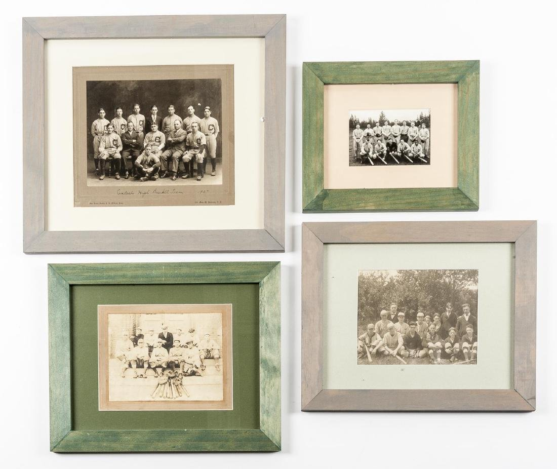 4 Circa 1920s Baseball Photographs