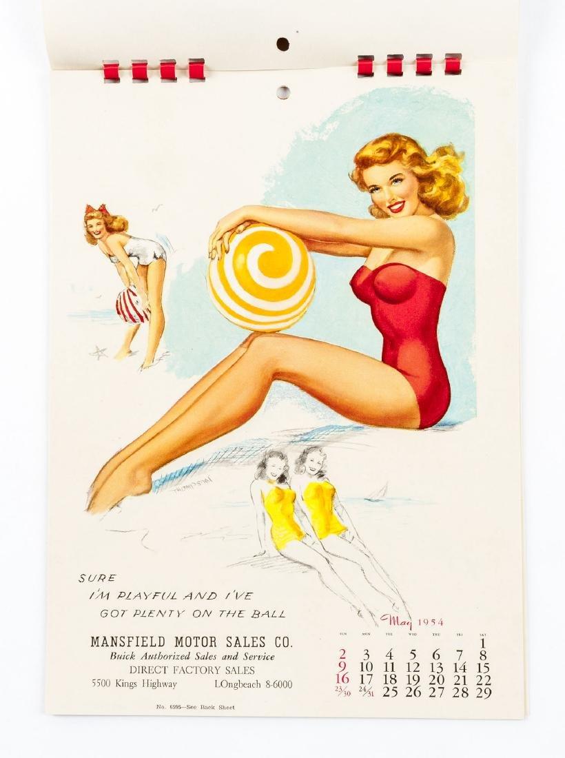 5 Vintage Saleman's Sample Pin-up Calendars - 6