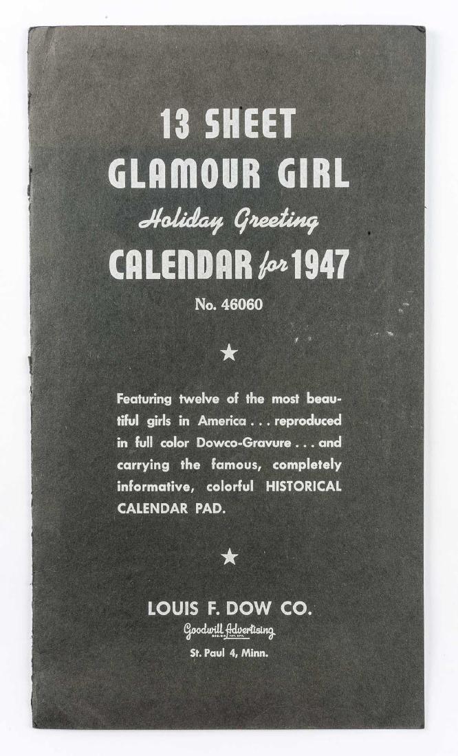 5 Vintage Saleman's Sample Pin-up Calendars - 7