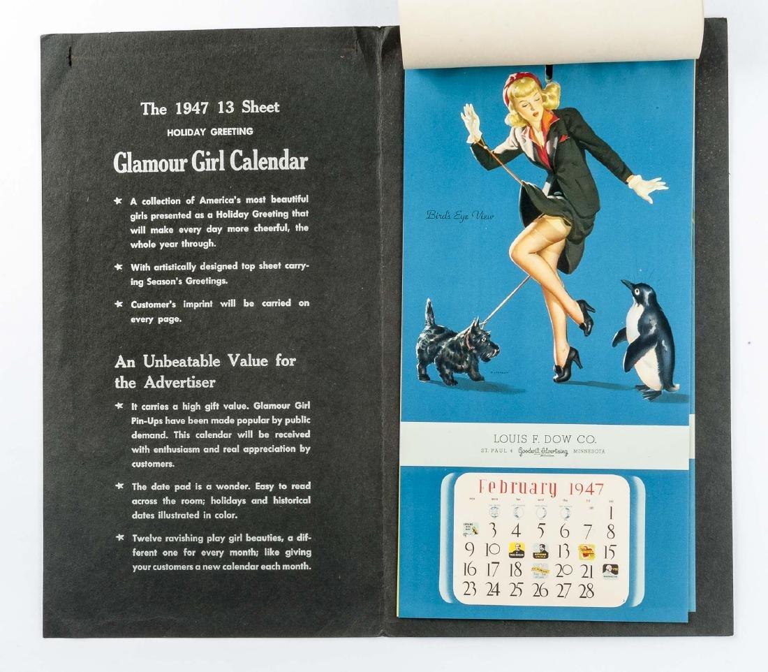 5 Vintage Saleman's Sample Pin-up Calendars - 8