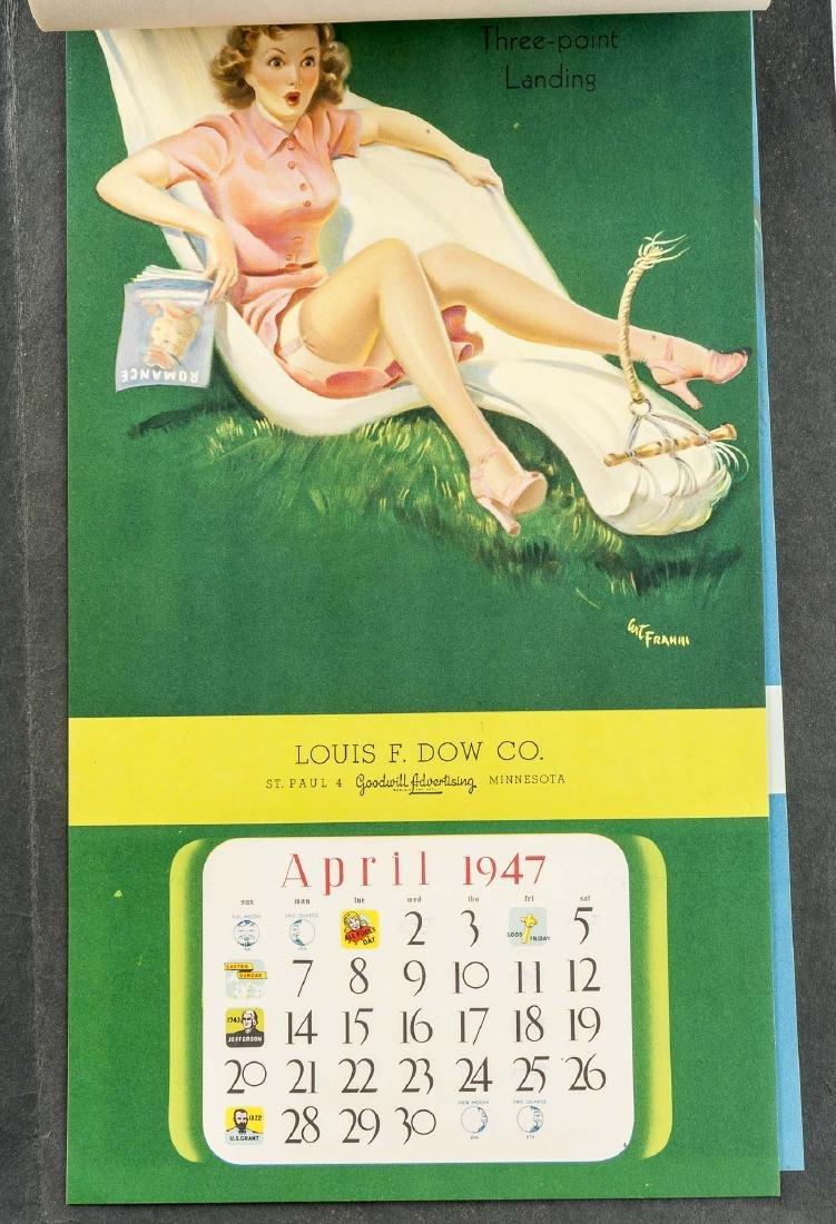 5 Vintage Saleman's Sample Pin-up Calendars - 9