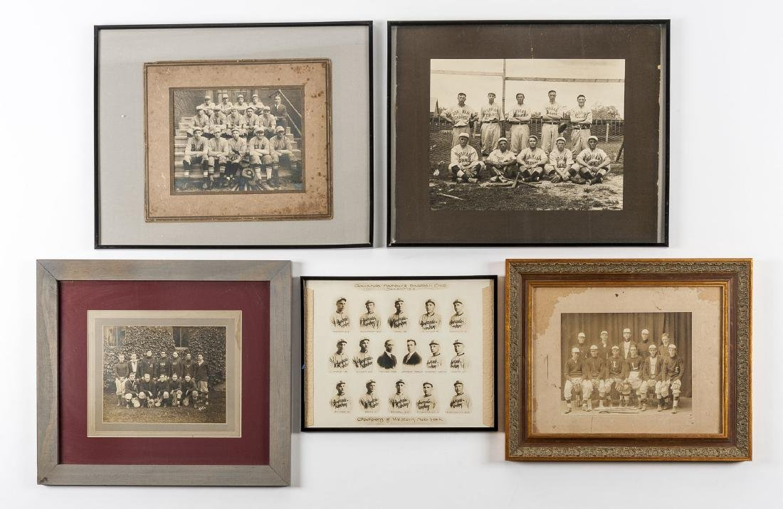 5 Circa 1910s Baseball Photographs incl HA