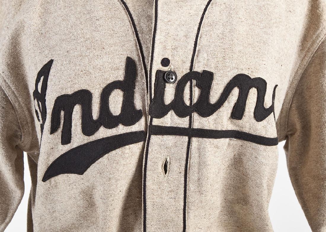 Vintage Indians Wool Baseball Uniform & Mitt - 2
