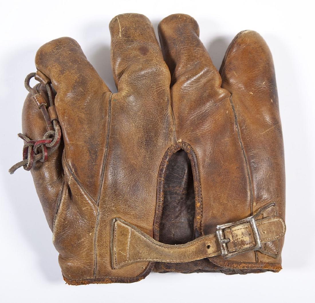 Vintage Indians Wool Baseball Uniform & Mitt - 9
