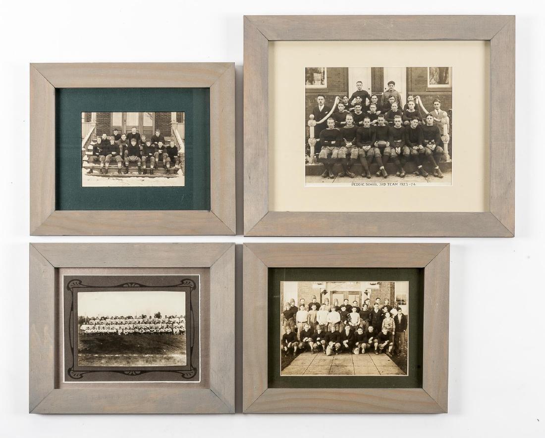 4 Football Photographs incl Peddie School