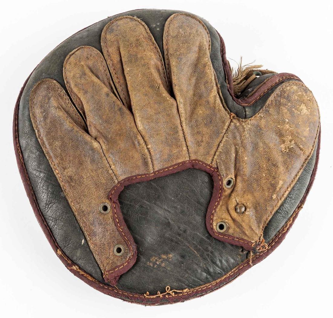 1870's Grommet Back Catcher's Mitt - 2