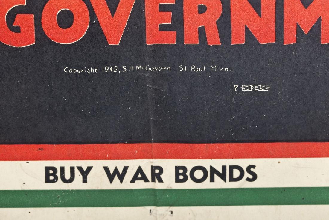 1942 War Bonds Poster Spike That Rumor - 2