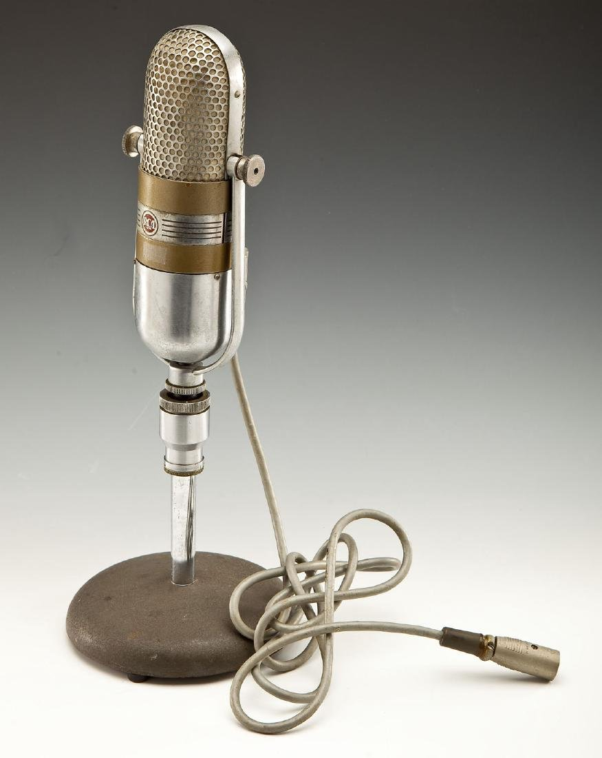 Vintage RCA 77 DX Microphone on Stand - 4