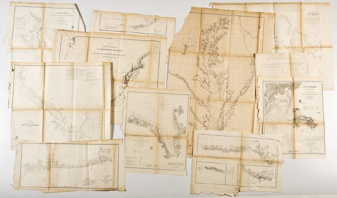13 1859 U.S. Coastal Survey Maps
