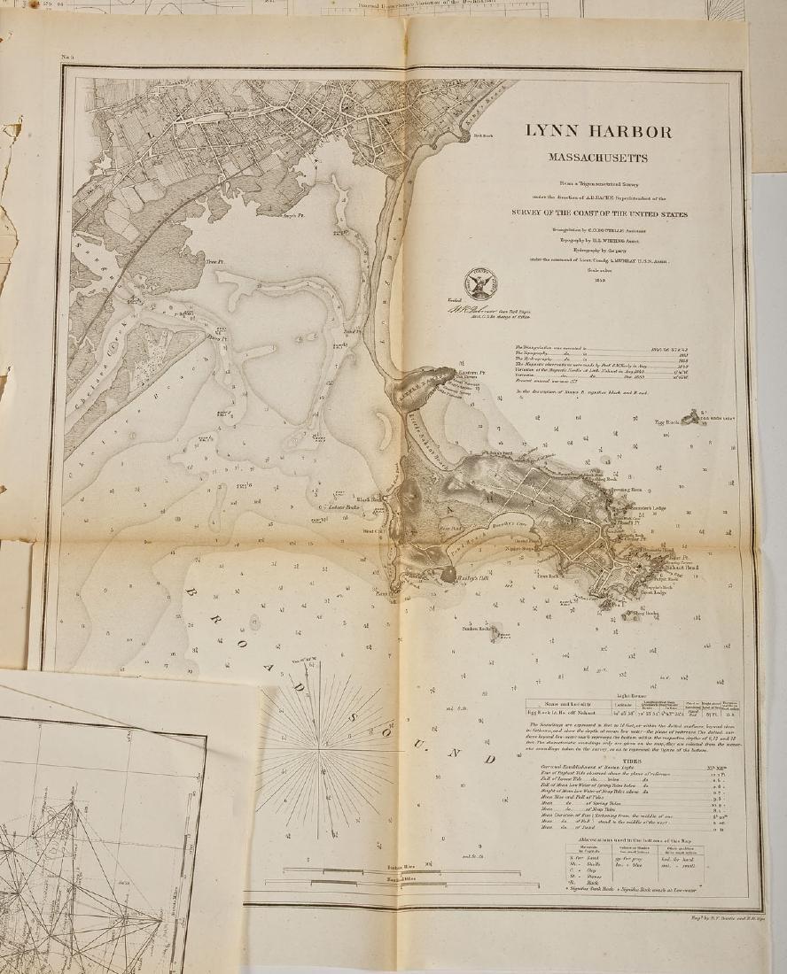 13 1859 U.S. Coastal Survey Maps - 2