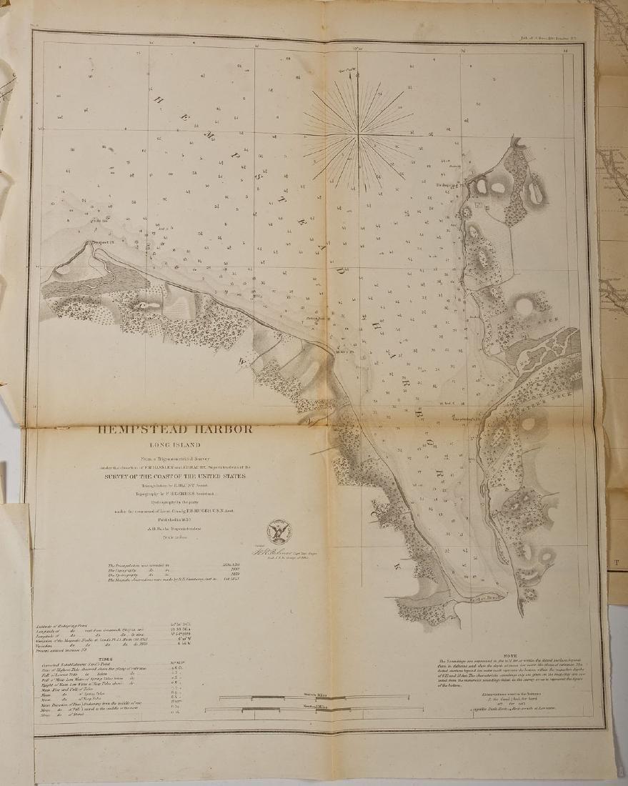 13 1859 U.S. Coastal Survey Maps - 3