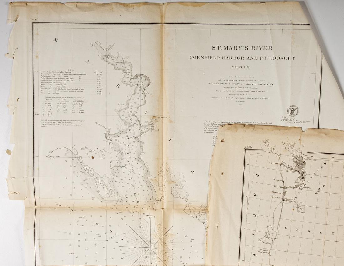 13 1859 U.S. Coastal Survey Maps - 4