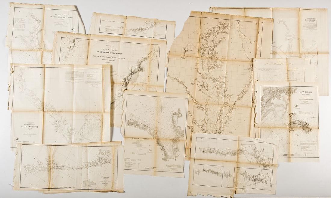 13 1859 U.S. Coastal Survey Maps - 6