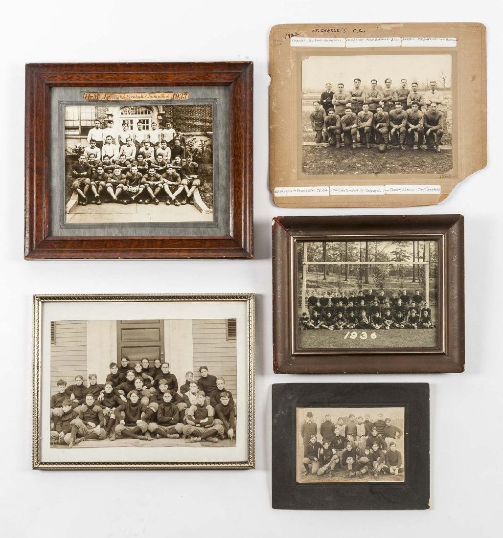 5 Football Photos incl 1920s and 1930s