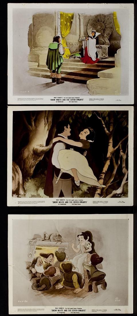 3 1937 Snow White & Seven Dwarfs RKO Lobby Cards