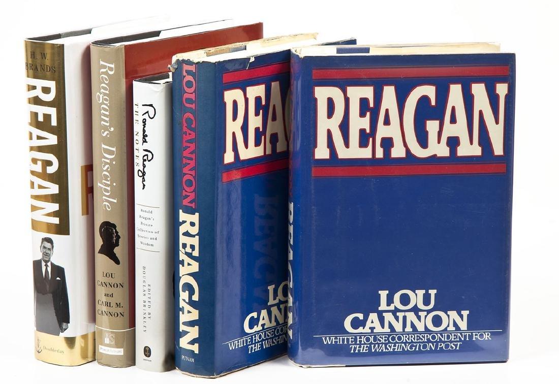 5 President Ronald Reagan Hardcover Volumes
