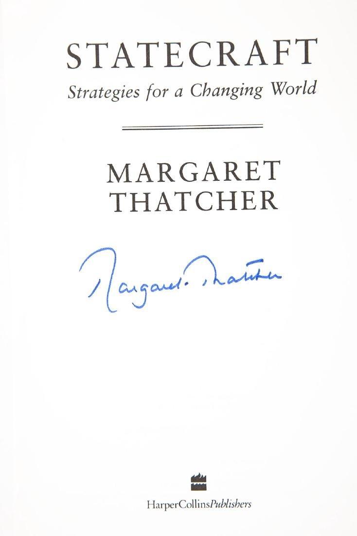 Statecraft Strategies Signed by Margaret Thatcher - 3