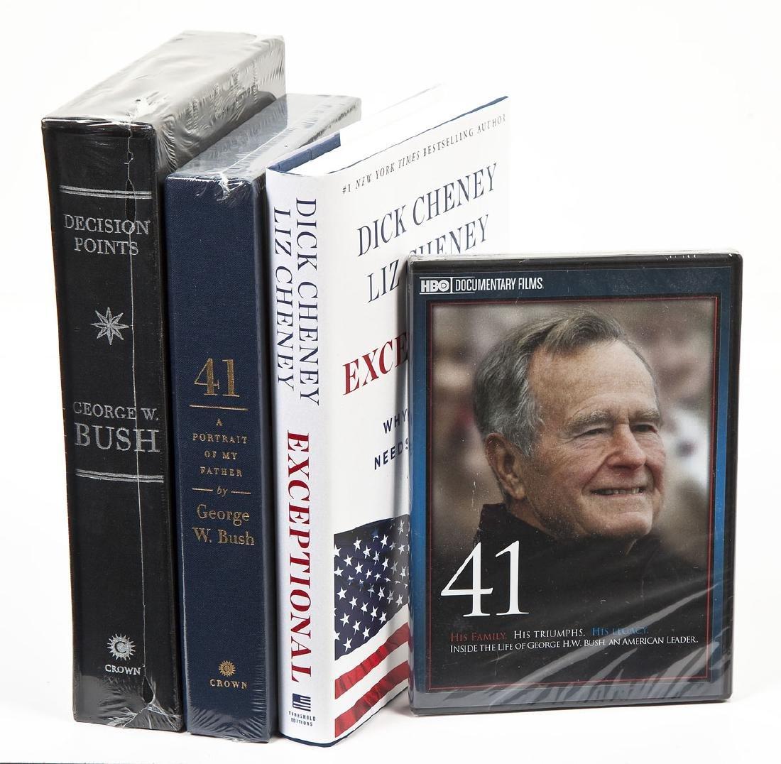 4 President George Bush & Cheney Signed Books