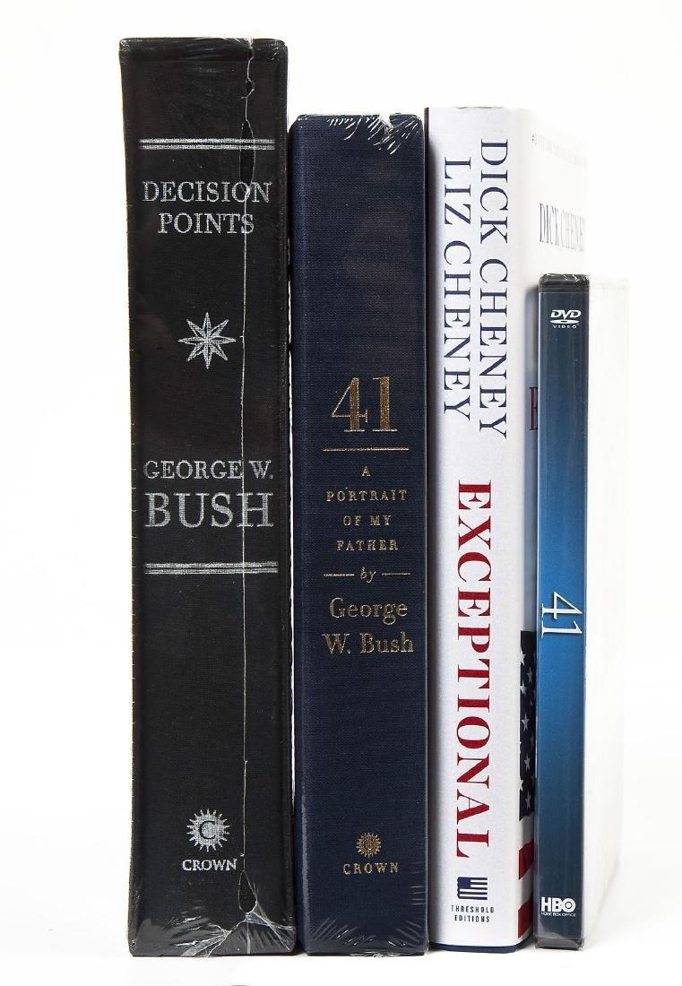 4 President George Bush & Cheney Signed Books - 2