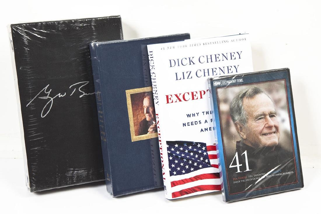 4 President George Bush & Cheney Signed Books - 3