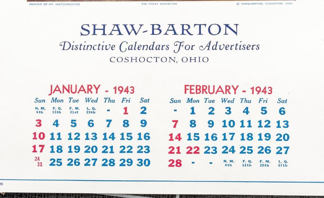 4 Vintage Saleman's Sample Calendars - 10