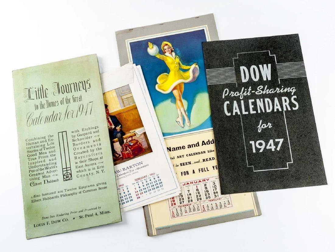 4 Vintage Saleman's Sample Calendars