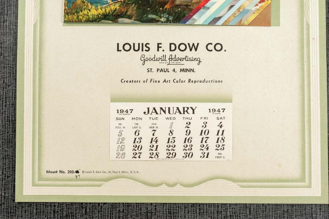 4 Vintage Saleman's Sample Calendars - 4