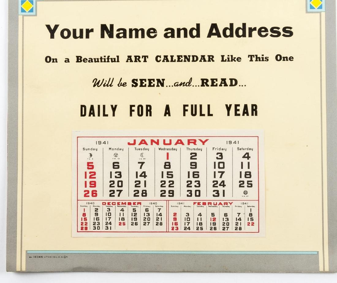 4 Vintage Saleman's Sample Calendars - 7