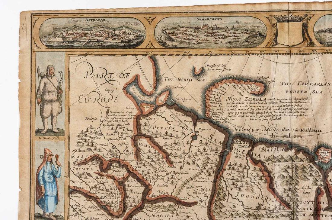 1626 John Speed Newe Mape of Tartary - 3