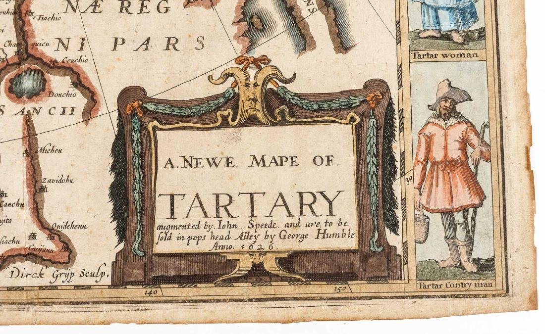 1626 John Speed Newe Mape of Tartary - 4