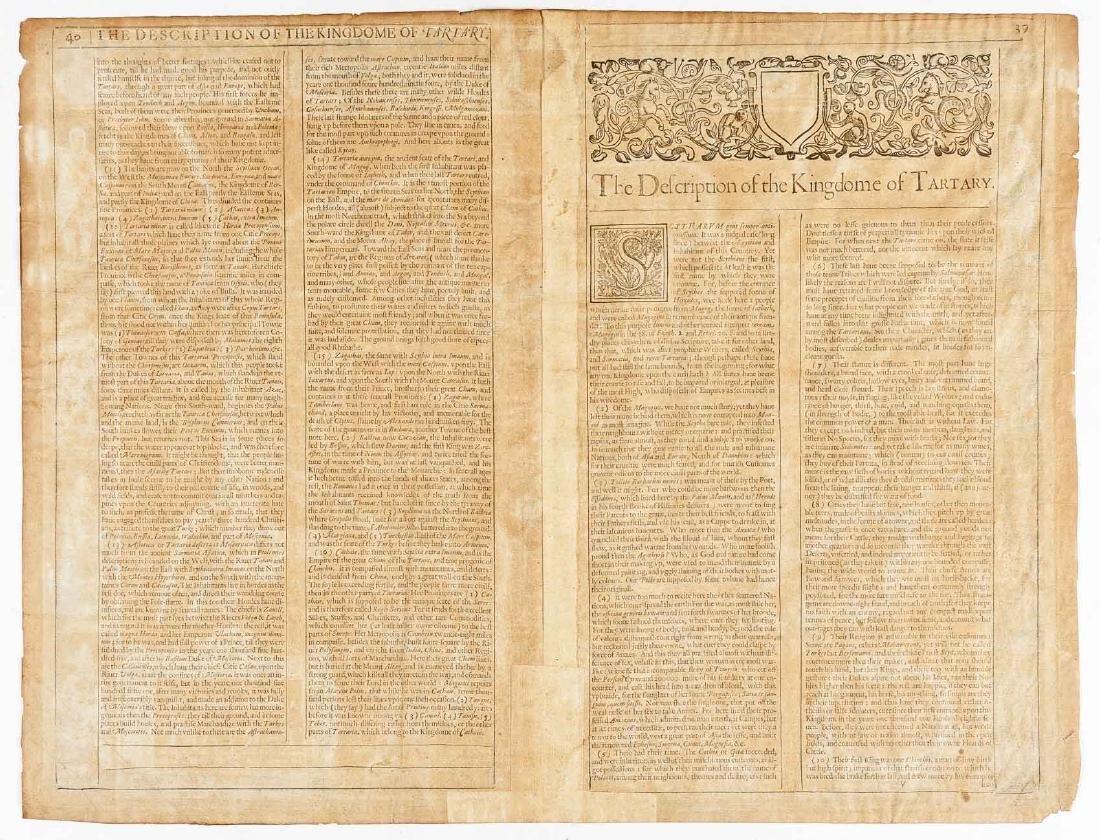 1626 John Speed Newe Mape of Tartary - 5