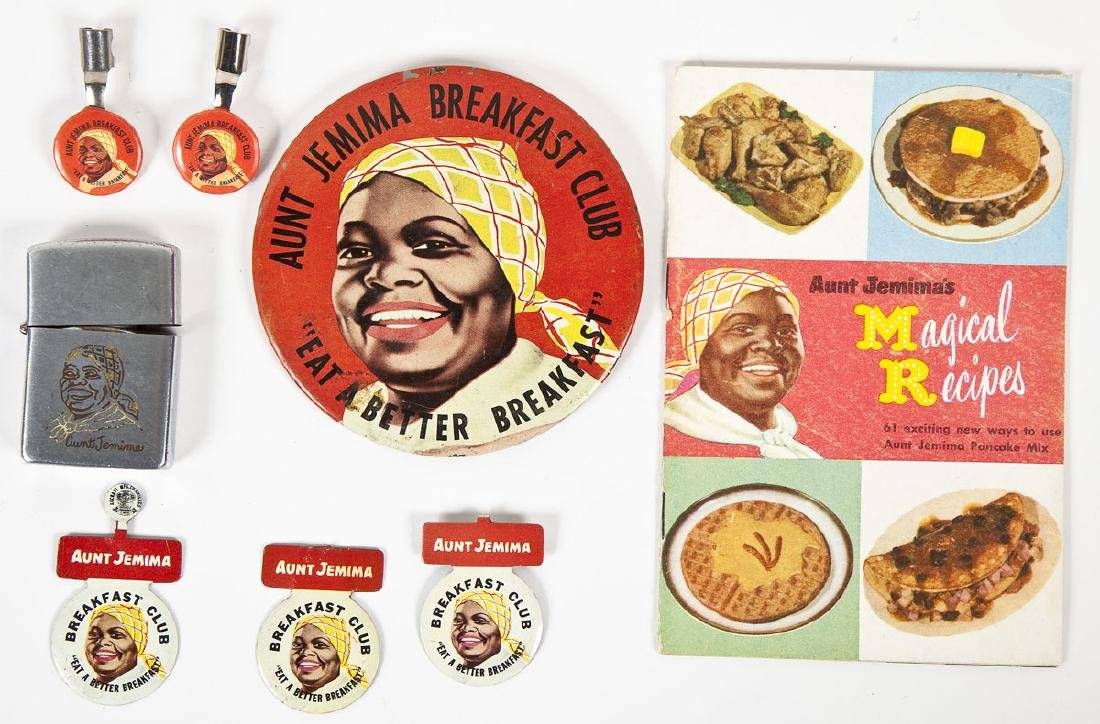 Aunt Jemima Items Incl Tab Pins & Pencil Toppers