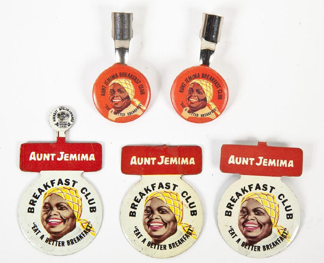 Aunt Jemima Items Incl Tab Pins & Pencil Toppers - 2