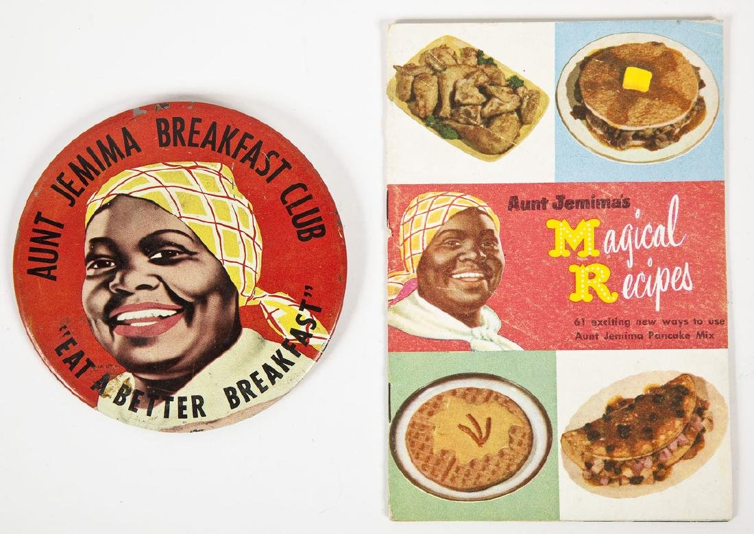 Aunt Jemima Items Incl Tab Pins & Pencil Toppers - 3